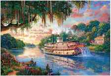 "Jigsaw Puzzles 1000 Pieces ""The River Queen"" / Thomas Kinkade"
