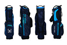 STA-DRY 100% Waterproof Golf Stand Bag Ultralightweight - Navy and Electric Blue