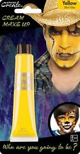 28ml Cream Face & Body Paint Fancy Dress Party Make Up Accessory - Yellow