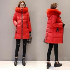 Womens Winter Hooded Parka Jackets Outerwear Ladies Winter Chunky Puffer Coats