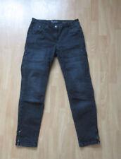 Und/- Normalgröße Fetzen Damen-Jeans mit mittlerer Bundhöhe