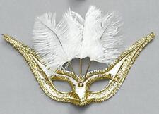 NEW WHITE VENETIAN MASQUERADE EYE MASK FANCY DRESS
