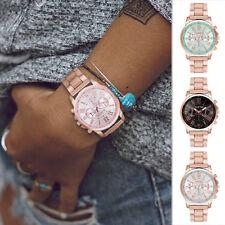 Damenuhr Armband Herren Uhr Uhren Farbe Rosegold Silber Mesh Leder Schwarz Beige
