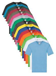 Fruit of the Loom Coton Léger V Col En V Cou T-Shirt T-SHIRT S - 5XL