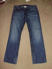 TRUE RELIGION Mens RICKY GIANT BIG T 34 x 34 Dark Savannah USA 100% cotton Jeans