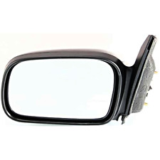 Fits 06-11 Honda Civic Coupe Left Driver Mirror Power Non-Painted Black No Heat