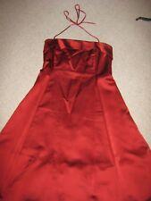 Laura Ashley Red Satin Evening  Dress Size 14
