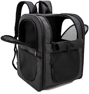 Pet Carrier Backpack for Large/Small Cats and Dogs, Puppies, Safety Travel Bag