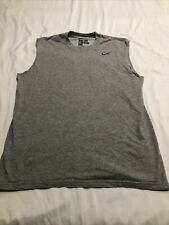 Nike Men's Dry-Fit Sleeveless Shirt Men's Size Medium Tank T-Shirt Muscle Tee