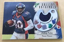 2002 Topps Football Ashley Lelie Player Worn Jersey Patch Trading Card