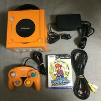 Nintendo GameCube Spice Orange Console with Controller set (NTSC-J) #909