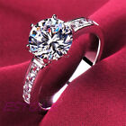 Wholesale New Elegant Womens Fashion Jewelry Gift Silver Plated Ring Size 5-8
