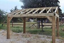 Wooden Garden Shelter Frame, Hot Tub, Car Port Canopy Kit 4.2m x 3m - New Other