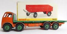 AUC20 Vintage DINKY TOYS Trailer 428 In Box & FODEN Tray Truck
