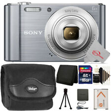 Sony Cyber-shot DSC-W810 20.1MP Digital Camera Silver + Top Accessory Kit