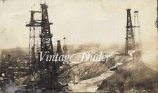 Vintage Oil Well Derricks Photos Refinery Field Shops Huntington Beach Ca 1920's