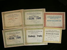 1907-14 Barry & District Chrysanthemum Society - 47 Prize Certificates