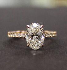 Adorabile 5.30 Ct. Ovale Brillante Taglio Diamante Fidanzamento Ring J, VS2 GIA