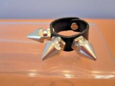 Nos New Wave Heavy Metal Spike Stud Ring Vegan Punk Glam Barbarian Psychobilly 8