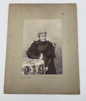 Antique late 1800's photograph portrait older lady beautiful dress