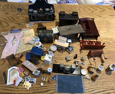 Dolls House Furniture & Accessories Mixed Job Lot Spares Or Repairs Vintage T353