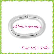6x4mm 1mm/18ga 20pcs 304 Stainless Steel Oval Jump Rings Jewelry Findings Open