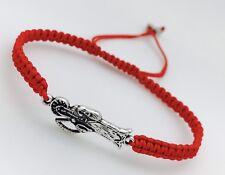 3 Pulseras Rojas Hechas a Mano Para Proteccion De la malas Vibras (santa Muerte)