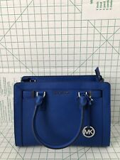 MICHAEL KORS DILLON TOP ZIP MEDIUM SAFFIANO Crossbody Handbag Electric Blue