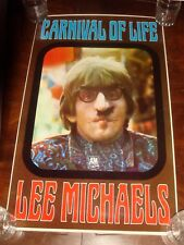 "Ultra Rare LEE MICHAELS ""CARNIVAL OF LIFE"" 1968 A&M RECORDS PROMO POSTER"