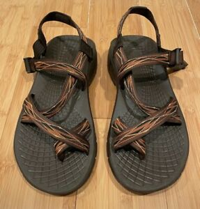 Chaco Z Sandals EcoTread Mens 13 Brown Geometric Pattern
