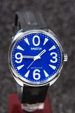 Russian mechanical watch RAKETA BIG ZERO. Blue dial. 39mm
