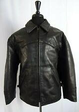 Men's Vintage Distressed Redskins Leather Flight Biker Jacket 42R (M)