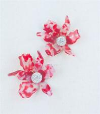 LeLe Sadoughi Crystal Lily Cherry Clip On Earrings