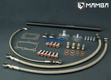 Turbo Oil & Water Line Install Kit FOR NISSAN RB25 RB20 RB30 WITH Garrett T3 T4