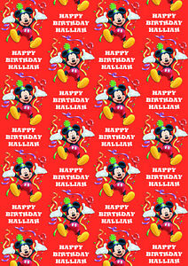 Mickey Mouse Personalised Gift Wrap - Disney's Mickey Mouse Wrapping Paper