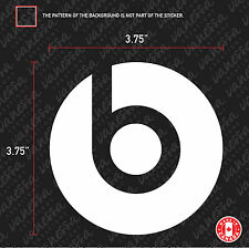 2X BEATS Headphones by Dr. Dre sticker vinyl decal white