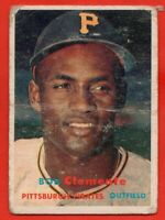 1957 Topps #76 Roberto Clemente LOW GRADE CREASE HOF Pittsburgh Pirates FREE S/H