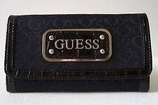 "Guess Network SLG Slim Clutch Wallet Purse 3.5"" x 6.5"""
