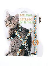 Cat Harness and Lead Cat Kitty Kitten Lead set collar harness brown