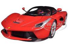 FERRARI LAFERRARI F70 HYBRID RED 1/18 DIECAST MODEL CAR HOTWHEELS BLY52