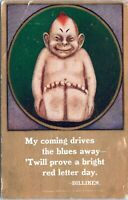 1909 Billiken Doll Art Good Luck Postcard BS