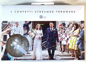 WEDDING WHITE 'NO MESS' CONFETTI STREAMER THROWERS PARTY ENGAGEMENT THROWER