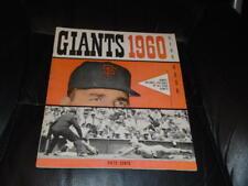 VINTAGE 1960 SAN FRANCISCO GIANTS BASEBALL YEARBOOK NEAR MINT