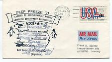 1971 Byrd Station Antarctica Deep Freeze Southernmost Airline Polar Cover SIGNED