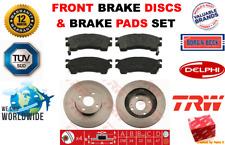 FOR MAZDA 323 F S 1.6 1.8 2.0 16V 1994-2004 FRONT BRAKE DISCS + BRAKE PADS SET