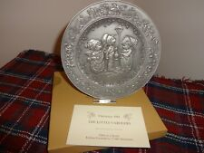 1981 Hallmark Little Gallery Pewter Christmas Plate The Little Carolers