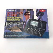 CASIO SF-5300E // DIGITAL DIARY / VINTAGE CALCULATOR 64KB MILTI LINGUAL MESSAGES