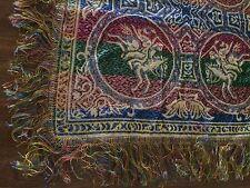 Vintage Tapestry India Shajahan Taj Mahal Riding  Home Table Decor Made Italy