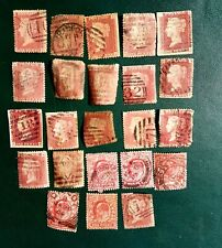QUEEN VICTORIA PENNY RED STAMPS USED.