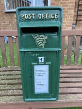 Postbox Letter Post Box - Cast Iron - Green with Irish Harp - Large - Base Mount